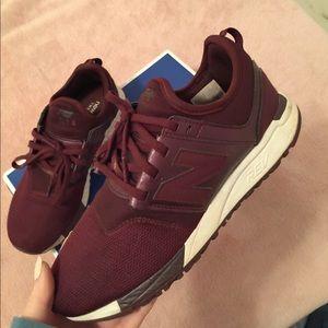 New Balance Shoes - Burgundy New Balances.